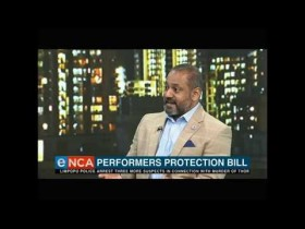 Tim Modise and Jack Devnarain talk about actors' rights on eTV news